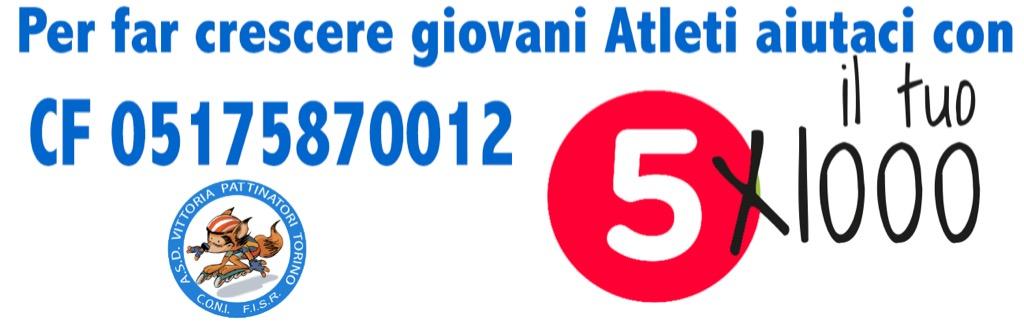 Devolvi il 5×1000 all'A.S.D. Vittoria Pattinatori Torino